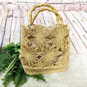 Trendy Woven Straw Basket Purse